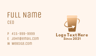 Recycle Drinking Cup Business Card
