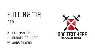 Crossed Swords Emblem Business Card