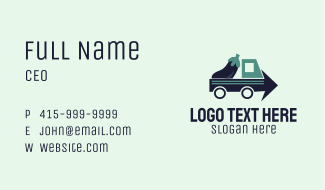 Eggplant Truck Delivery Business Card