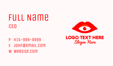 Red Lips Vision Business Card