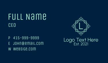 Geometric Frame Letter Business Card