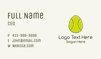 Egg Tennis Ball Business Card