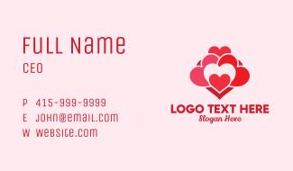 Love Heart Pattern Business Card