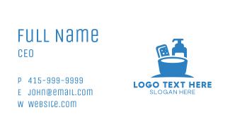 Blue Liquid Soap & Sanitizer Business Card