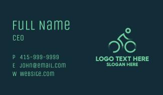 Green Cyclist  Business Card