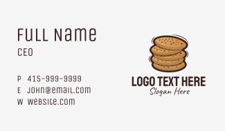 Stacked Cookies Business Card
