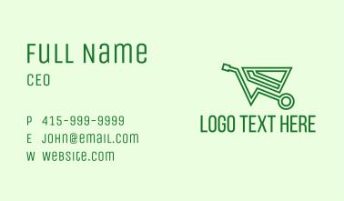 Green Eco Wheelbarrow Business Card