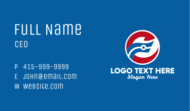 American Star Flag  Business Card