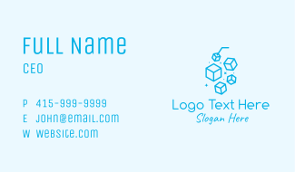 Blue Ice Drink Business Card