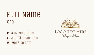Open Book Education Business Card