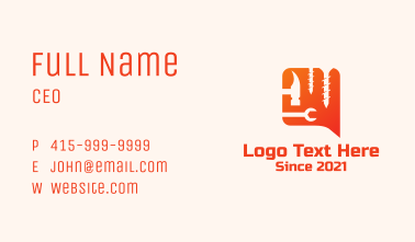 Handyman Tools Chat Business Card