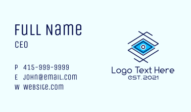 Geometric Diamond Eye Business Card
