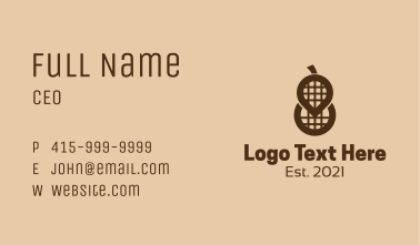 Peanut Spot Location  Business Card