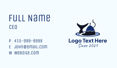 Pond Fishing Hook Business Card