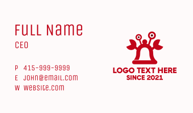Red Bell Crab Business Card