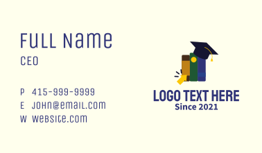 Online Learning Books Business Card
