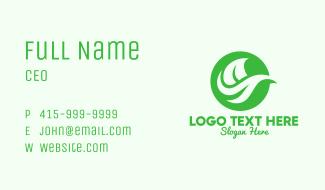Green Organic Leaf Business Card