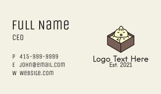 Asian Dumpling Mascot  Business Card