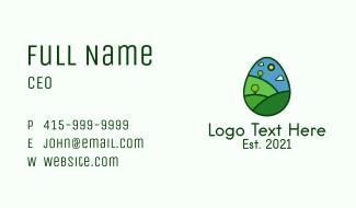 Nature Park Egg Business Card