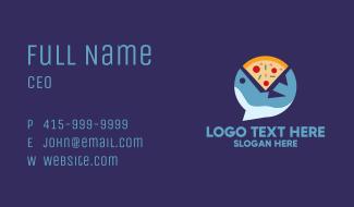 Seafood Shark Pizza Business Card