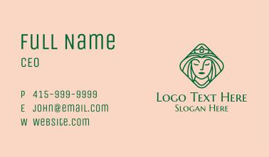 Beautiful Queen Woman Business Card