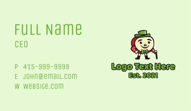 Apple Gentleman Mascot Business Card