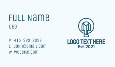 Blue Shovel Outline  Business Card