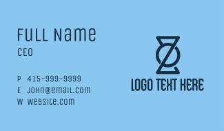 Kettlebell Crossfit Letter Z Business Card