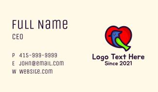 Lovely Heart Bird Business Card