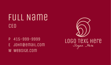 Pink Letter S Seashell  Business Card