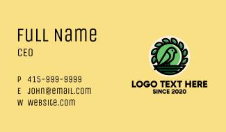 Green Bird Nest Business Card