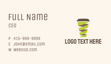 Twisted Coffee Cup  Business Card