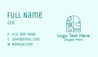 Toothbrush Dental Tooth Business Card