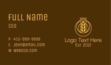 Wheat Grain Mill Business Card