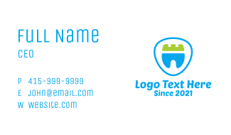 Dental Crown Tooth  Business Card