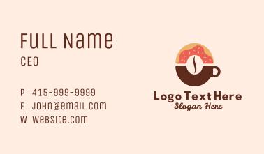 Coffee Donut Business Card