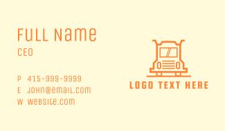 Orange Truck Courier Business Card