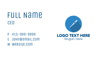 Clinic Thermometer Business Card