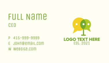Chat Bubble Podcast Business Card