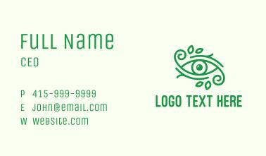 Green Nature Eye  Business Card