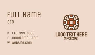 Ancient Aztec Pattern Business Card