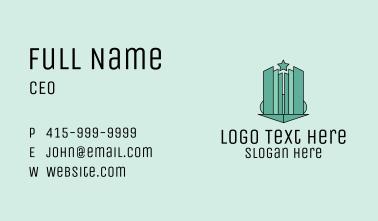 Geometric Star Skyscraper Business Card