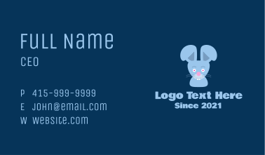Cute Bunny Mascot Business Card