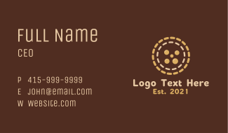 Brown Pastry Cookie  Business Card