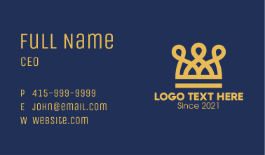 Golden Crown Loops Business Card