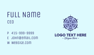 Indian Complex Pattern Business Card