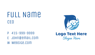 Blue  Dolphin Shore Business Card