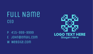 Abstract Tech Pattern Business Card