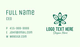 Green Football Cannabis Business Card