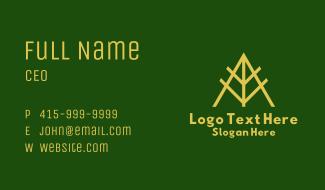 Gold Leaf Letter A Business Card